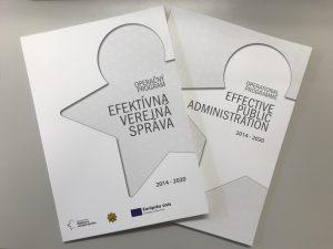 Grafické zobrazenie dokumentu operačného programu Efektívna verejná správa