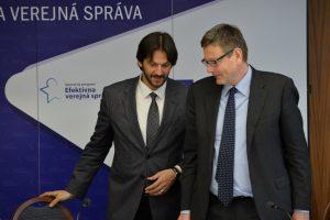 Rozhovor ministra vnútra Róberta Kaliňáka so zástupcom Generálneho riaditeľstva EÚ pre zamestnanosť, sociálne veci a začlenenie Michaelom Morassom