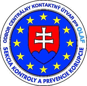 logo Sekcie kontroly a prevencie korupcie OLAF