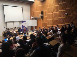 Diskusia na Ekonomickej univerzite v Bratislave