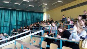 Diskusia zástupcov štátnej správy a súkromného sektora so študentmi Slovenskej poľnohospodárskej univerzity v Nitre